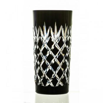 Kryształowe szklanki long drink - czarne