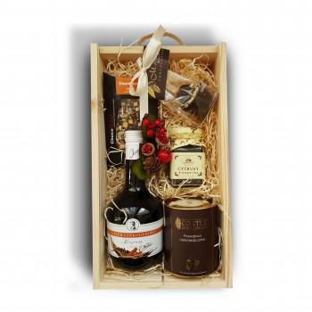Zestaw świąteczny z likierem czekoladowo-korzennym
