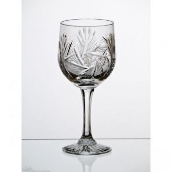 Kryształowe kieliszki do wina goblet - 6szt - szlif młynek