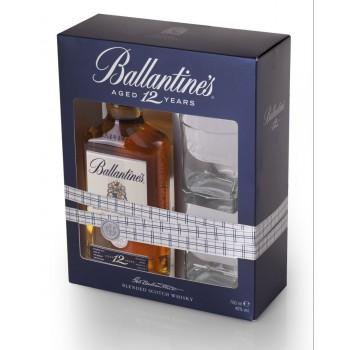 Ballantine`s 12YO butelka 0,7L +2 szkalnki