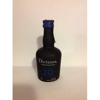 Rum Dictador 20 yo 40% 0,05l
