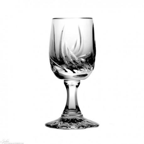 Kryształowe kieliszki do wódki - 6szt - szlif cebulka