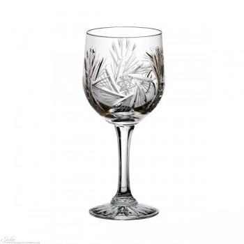 Kryształowe kieliszki do wina - 6szt - szlif młynek