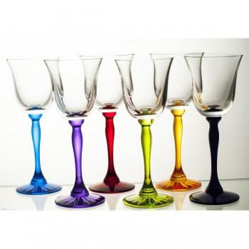 Kieliszki kryształowe do wina - 6 kolorów