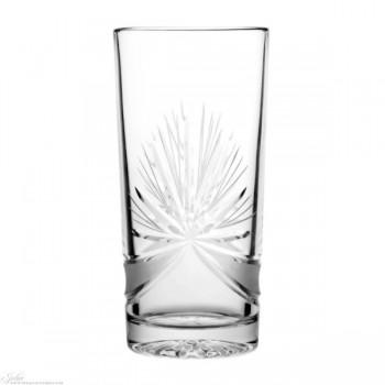 Kryształowe szklanki long drink - delikatne