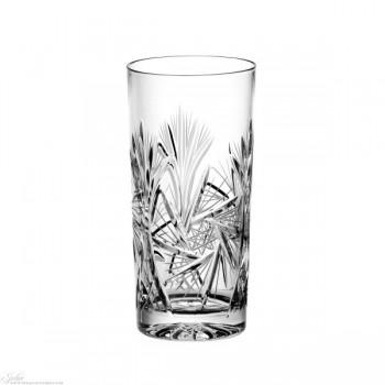 Kryształowe szklanki long drink - szlif młynek