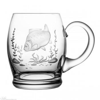 Kufle kryształowe do piwa - ryba