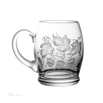 Kufle kryształowe do piwa - gałązki