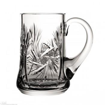 Kufle kryształowe do piwa - szlif młynek