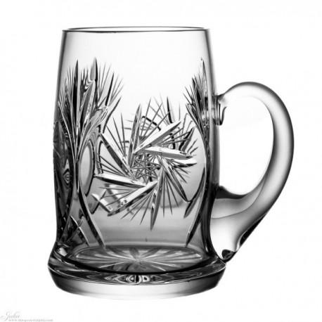 Kryształowe kufle do piwa - szlif młynek
