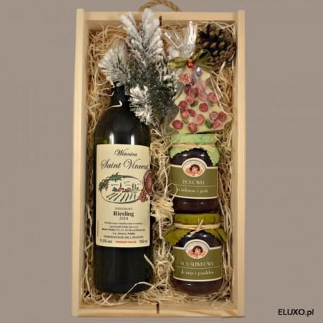 Zestaw świąteczny z winem polskim z winnicy Saint Vincent