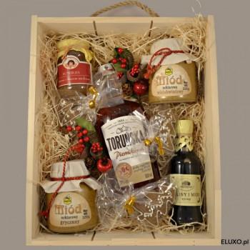Zestaw świąteczny z wódką Toruńską piernikową
