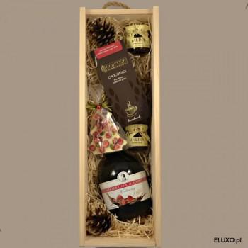Zestaw świąteczny z likierem czekoladowo-malinowym