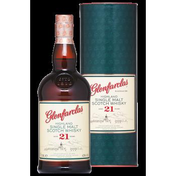 Glenfarclas 21 yo w tubie 43% 0,7l