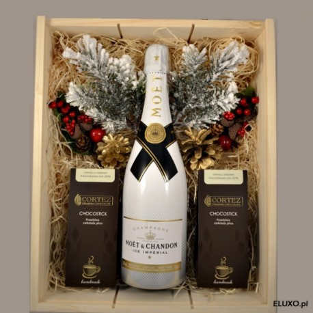 Zestaw upominkowy świąteczny z szampanem Moet Ice Imperial