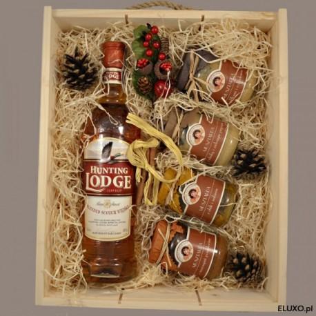 Zestaw upominkowy świąteczny z whisky i kolekcją musztard