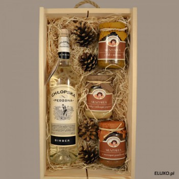 Zestaw upominkowy świąteczny z wódką Chłopską Bimber
