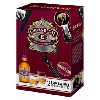 Chivas Regal 12 YO 0,7L +2 szklanki