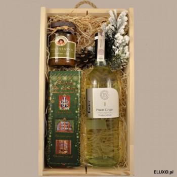 Zestaw upominkowy z winem Pinot Grigio