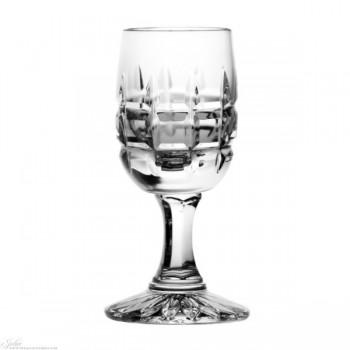Kieliszki kryształowe do wódki - 6szt - szlif krata