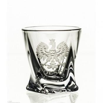 Kryształowe kieliszki do wódki - 6szt - orzeł