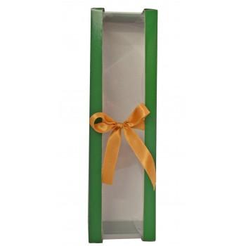 Opakowanie zielone ze złotą wstążką - pojedyńcze