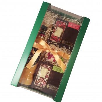 Zestaw upominkowy wielkanocny z likierem i czekoladami