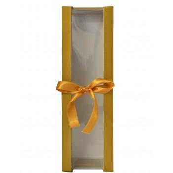 Opakowanie złote ze złotą wstążką - pojedyńcze
