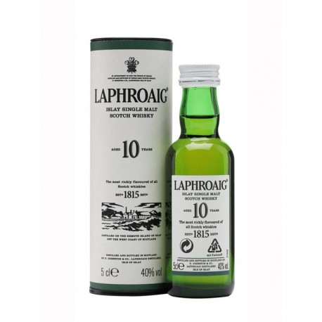 Laphroaig 10 YO w tubie 40% 0,05l