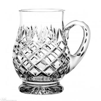 Kryształowy kufel do piwa - szlif ananas II