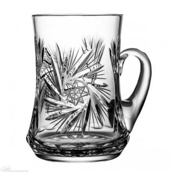 Kryształowy kufel do piwa - szlif młynek 0,6l