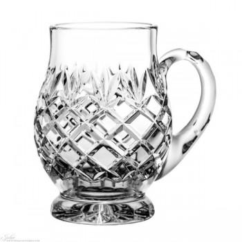 Kryształowy kufel do piwa - szlif ananas IV