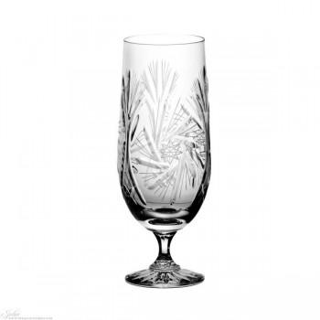 Kielichy Pokale kryształowe do piwa - szlif młynek