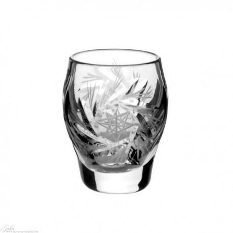 Kryształowe kieliszki do wódki  - szlif młynek