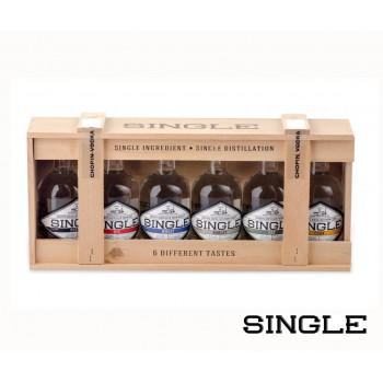 Zestaw miniaturowych wódek SINGLE 6 x 50 ml