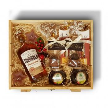 Zestaw świąteczny piernikowy z wódką Toruńską