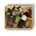 Zestaw świąteczny z czerwonym winem