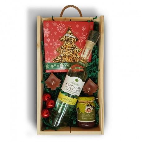 Zestaw świąteczny z wódką Zielona Natura z czarnego bzu