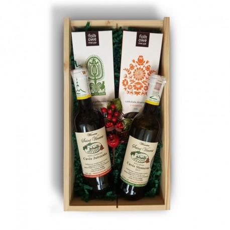 Zestaw świąteczny z polskim winem z winnicy Saint Vincent