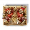 Zestaw świąteczny z wódką i akcentem choinki