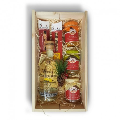 Zestaw świąteczny z wódką Starotoruńską cytrynowo-korzenną