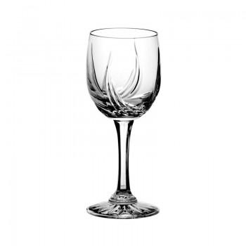 Kryształowe kieliszki  do wina - 6szt - szlif cebulka