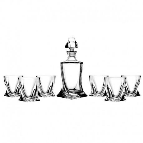 KRYSZTAŁOWA KARAFKA + 6 szklanek