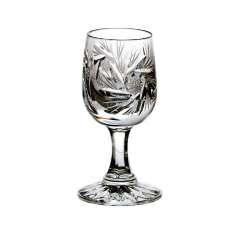 Kieliszki kryształowe do wódki - 6szt - szlif młynek