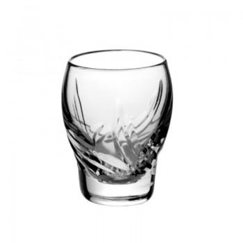 Kryształowe kieliszki do wódki - 6szt - stylowe