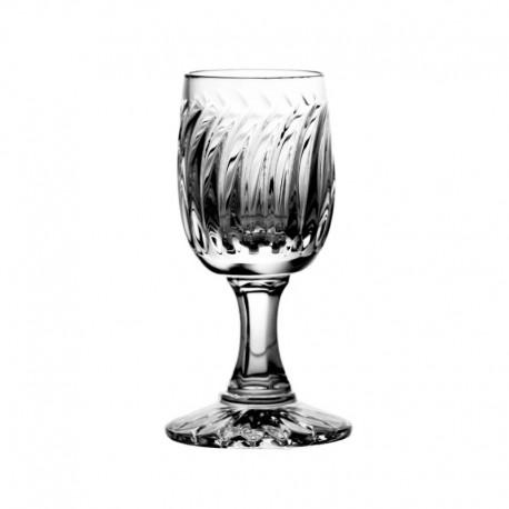 Kieliszki kryształowe do wódki - 6szt - szlif nowoczesny