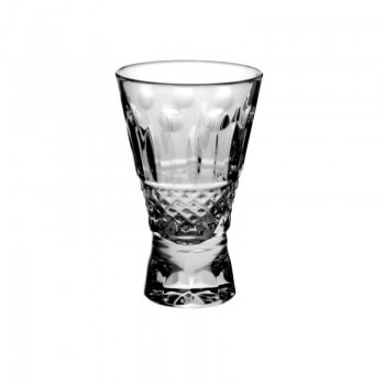 Kryształowe kieliszki do wódki - 6szt - uczta