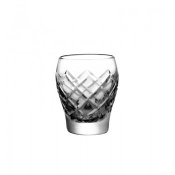 Kryształowe kieliszki do wódki - 6szt - szlif krata