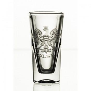 Kieliszki kryształowe do wódki - 6szt - orzeł