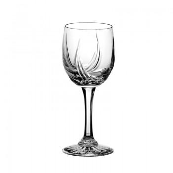 Kieliszki kryształowe do wina - 6szt - szlif cebulka